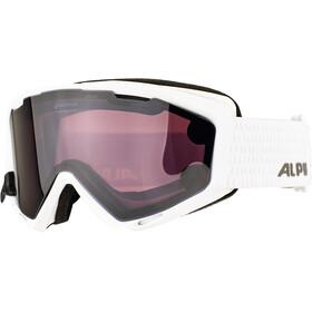 Alpina Panoma S Magnetic Q+S S1+S3 Maschera Donna, bianco/nero